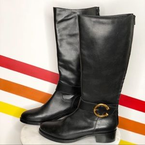 NEW Anthropologie leather knee high boots size 39